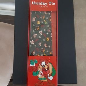 Looney Tunes Holiday Christmas Tie